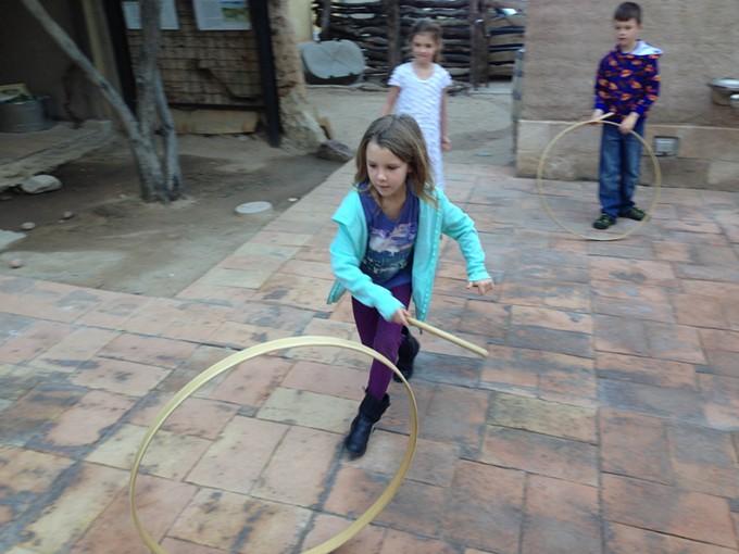 Children sometimes play Presidio-era games at the Presidio Museum's Family Adventure Fourth Saturday
