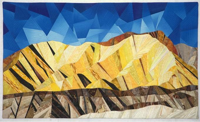 Golden Canyon Art Quilt