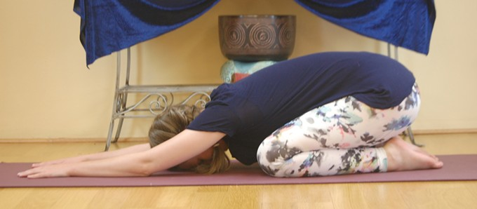 Gentle poses combined with breath help participants stretch and relax.