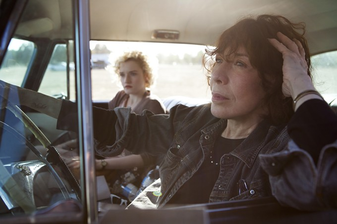 Lily Tomlin portrays Elle Read, a grandma that will kick your boyfriend in the dick rather than give him tea and cookies.