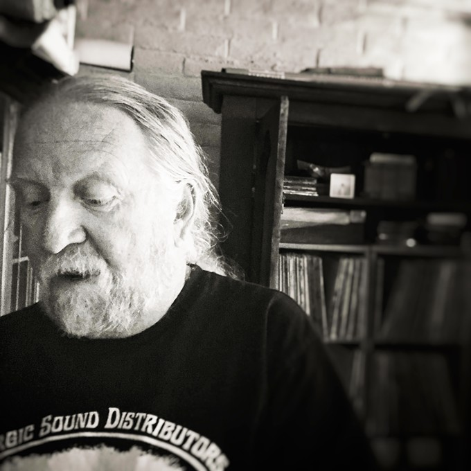 Steve Purdy in his home office