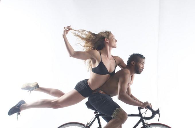 Pilobolus dancers Jordan Kriston (top) and Derion Loman showcase dance's explosive athleticism with Pilobolus.