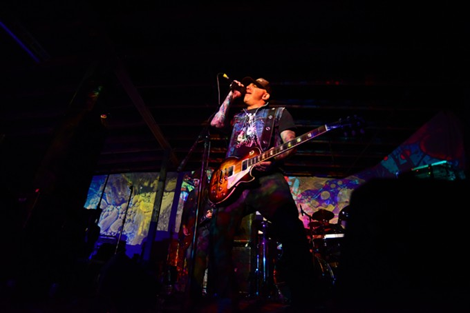 Pete Sattari of stoner rock band Zed performs at 191 Toole during the first night of the 2016 Borderlands Fuzz Fiesta on Feb. 26