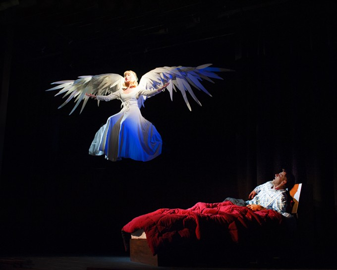 Grace Kirkpatrick and Christopher Jones in Angels in America.