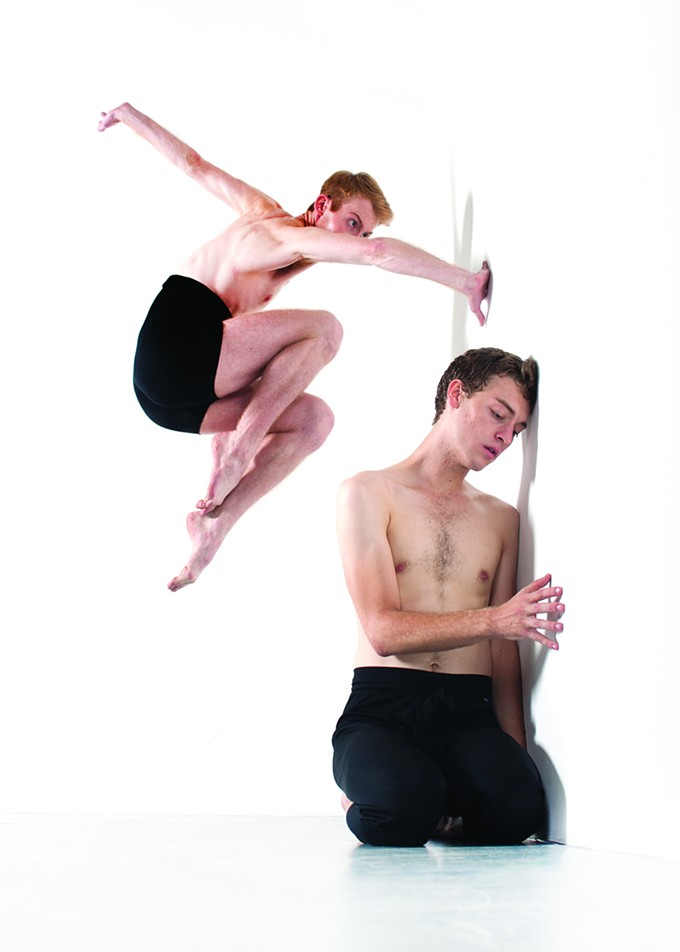 Logan Moon Penisten and Bo Brinton in Artifact Dance Project's Animal Farm, running this weekend.