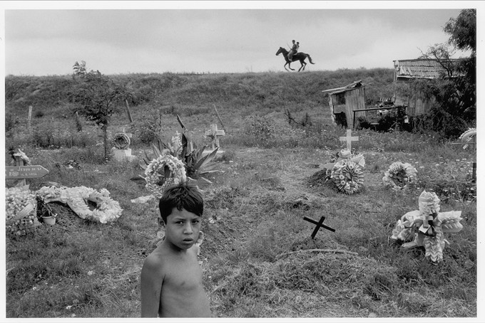 """Matamoros, Tamuaulipas,"" by Alex Webb, 1978, black and white fiber print, 16 x 20 inches ©Alex Webb/Magnum Photos."