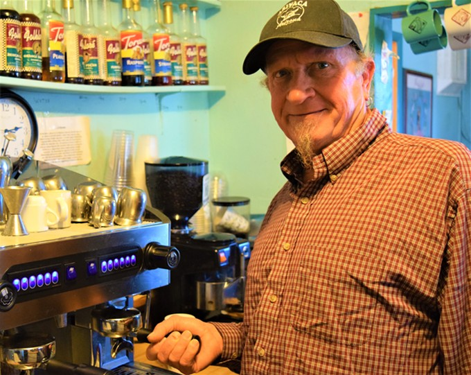 Bradley Knaub runs the Gadsden Coffee Co. in Arivaca, where he roasts the coffee beans himself. He loves the solitude of the little border-town and says that people there really look out for each other.