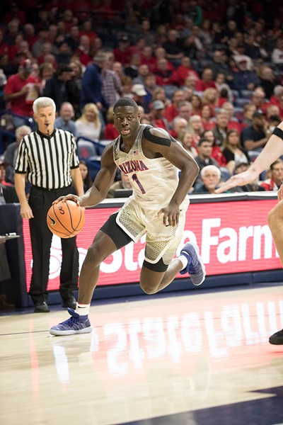 Rawle Alkins scored 11 points in Arizona's 70-62 win over Oregon State on Jan. 11. - STAN LIU | ARIZONA ATHLETICS