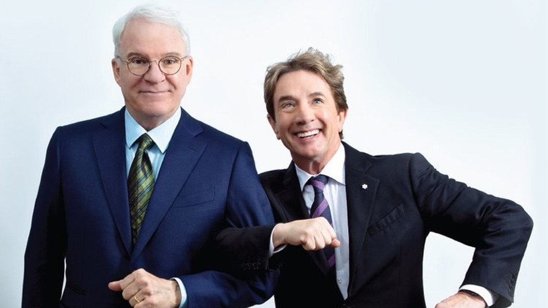 Steve Martin (L) and Martin Short perform Aug. 26 at the Tucson Convention Center. - NETFLIX