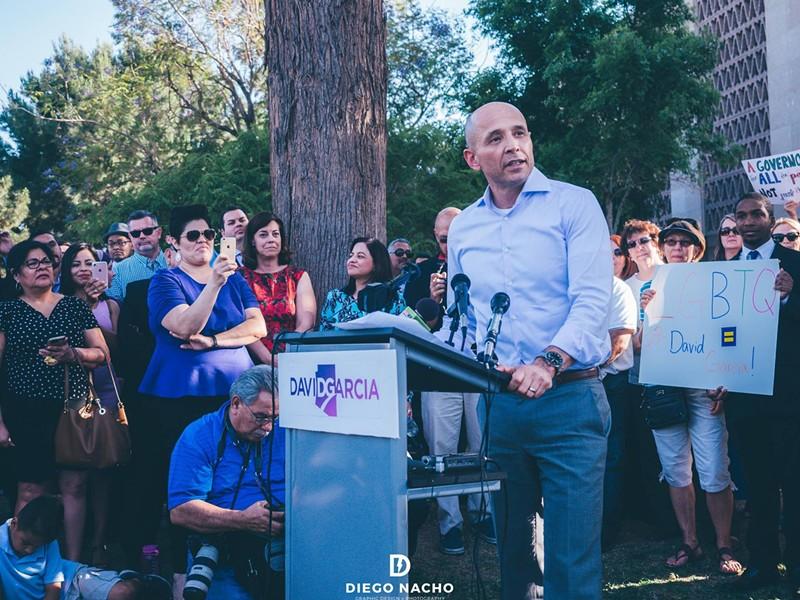 David Garcia has a big lead in the Democratic gubernatorial primary