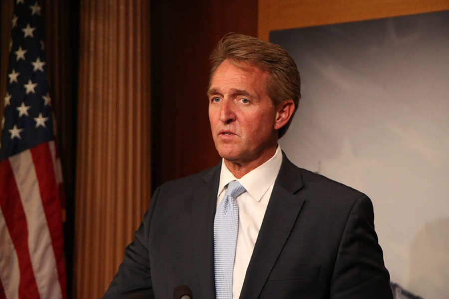 Sen. Jeff Flake, R-Arizona, said he is confident that some of the dozens of judicial nominees awaiting confirmation will come up for a vote in the remaining few weeks of this Congress, which should give him leverage to push protection for the Russia-election-meddling probe. - PHOTO BY VANDANA RAVIKUMAR/CRONKITE NEWS