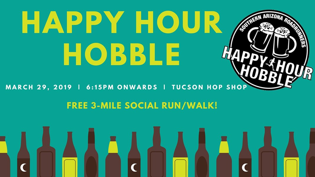 COURTESY OF HAPPY HOUR HOBBLE AT TUCSON HOP SHOP FACEBOOK EVENT PAGE