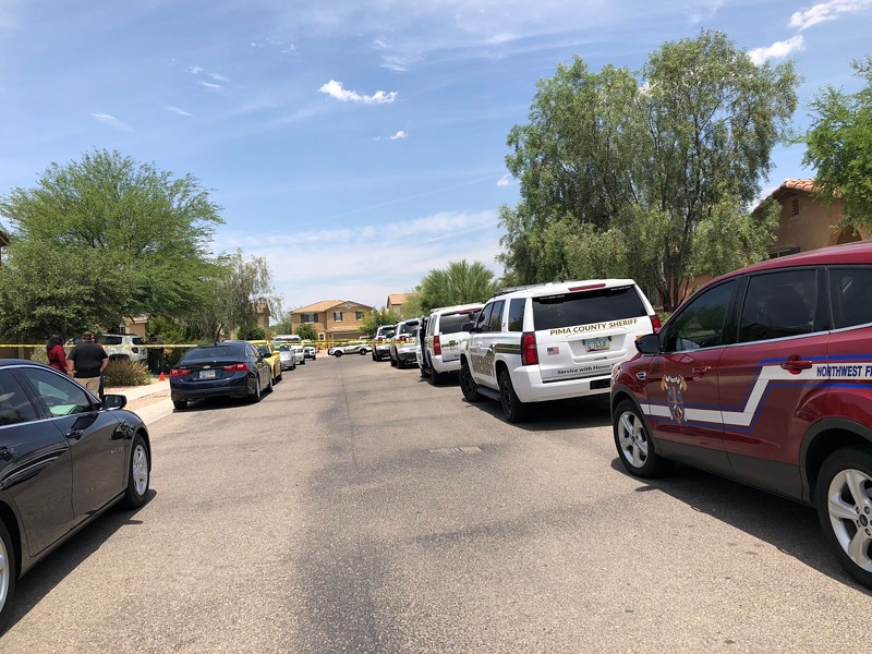 The shooting took place in the 8000 block of North Country Home Lane, near Cortaro Road and Interstate 10. - COURTESY PIMA COUNTY SHERIFF'S DEPARTMENT