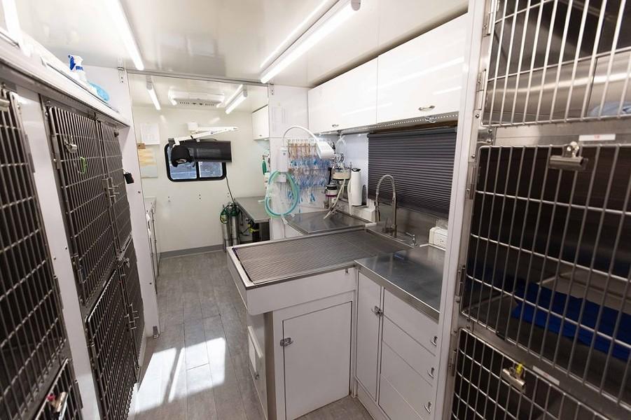 Interior of mobile vet clinic. - COURTESY PHOTO