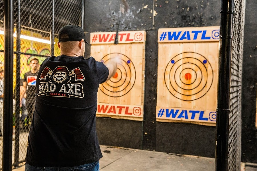 A shot from last year's championship. - COURTESY WORLD AXE THROWING LEAGUE