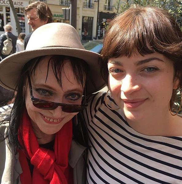 Anna with Howe Gelb's daughter Patsy Gelb in Paris. - COURTESY PHOTO