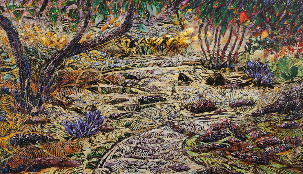 """Along the Tanque Verde,"" by Jim Waid, is among the works in ""On the Desert: The Discovery and Invention of Color,"" showing from Feb. 15 to April 15 at Tohono Chul Park. - COURTESY PHOTO"