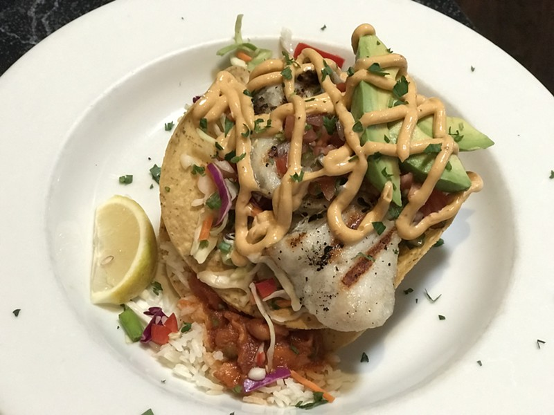 If you want Kingfisher's grilled seabass tostada, pick it up today or tomorrow. - JIM NINTZEL
