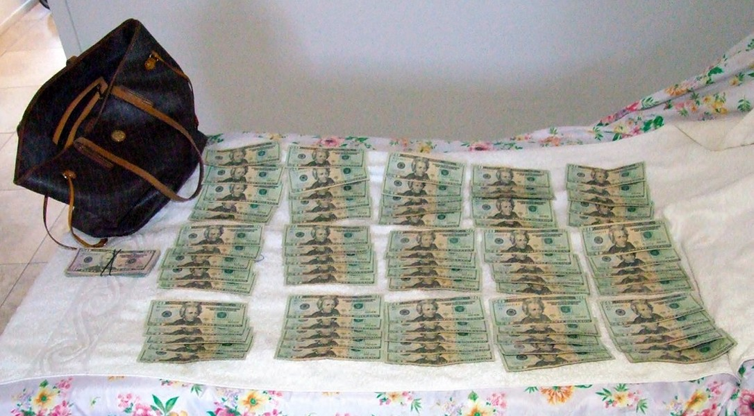 Lake Havasu City Police found large amounts of cash inside A Body Spa during a raid on Sept. 20, 2018. The raid was the culmination of a two-year multiagency sex-trafficking investigation that also netted more than $136,000 in seized assets, most of which was not returned after charges were dropped. (Photo by Lake Havasu Police Department)
