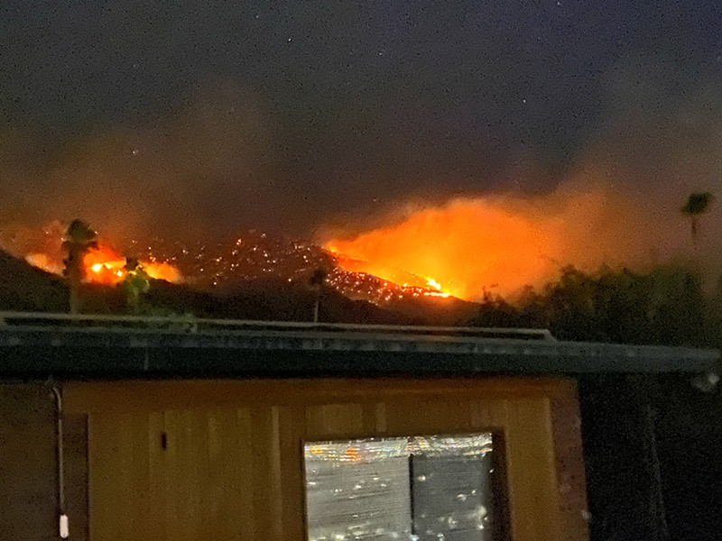 Bighorn fire rages above our house. - BRIAN SMITH