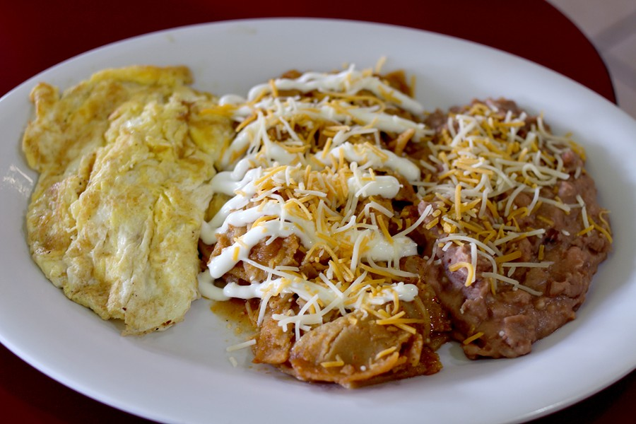 Deconstructed chilaquiles are ideal for those mornings you're a little worse for the wear. - HEATHER HOCH