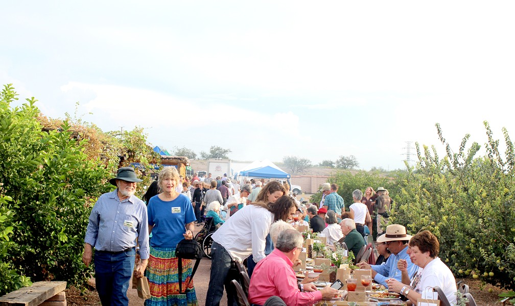 The Mission Garden hosted more than membrillo trees on Sunday. - HEATHER HOCH