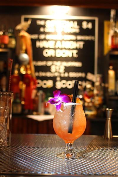 The Crossfire Hurricane is a tart and fruity take on tiki with some unexpected ingredients. - HEATHER HOCH