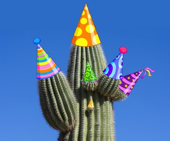 That is one festive saguaro. - BIGSTOCK