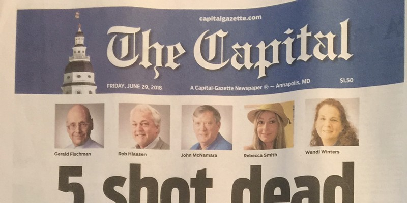 The Cover of today's The Capital Newspaper