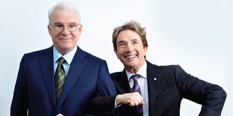 Steve Martin (L) and Martin Short perform Aug. 26 at the Tucson Convention Center.