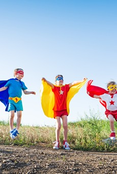 I'm not saying there are going to be superhero costumes available, but I am saying you should bring any used superhero outfits your kids have outgrown. Capes are always fun.