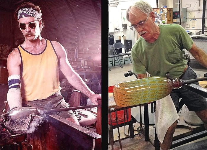 Legendary local glass artist Tom Philabaum will make one last go at the furnace this Saturday, Feb. 3.