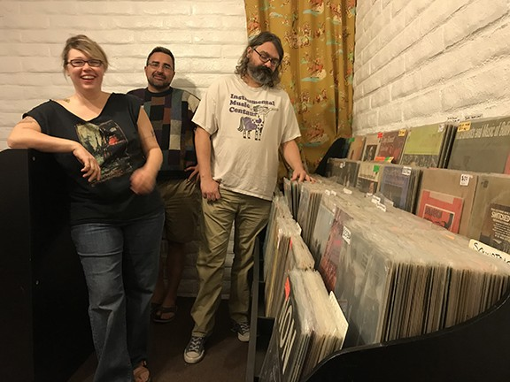 Baby Gask Mask Records owners (left to right) Melissa Mauzy, Chris Levesque and Seth Mauzy