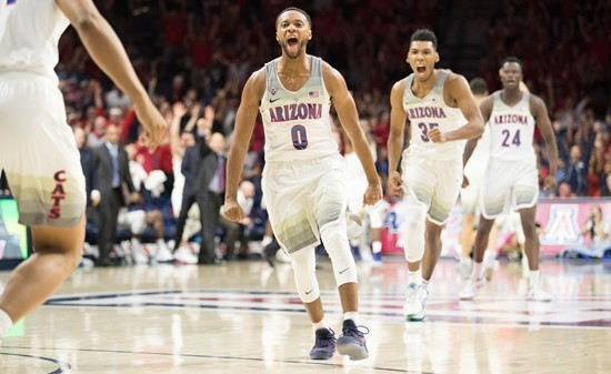 Senior Parker Jackson-Cartwright is averaging 7.3 points per game and 5 assists for Arizona this season. - STAN LIU | ARIZONA ATHLETICS