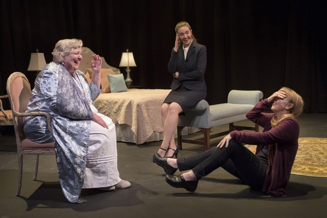 Tall order: Cynthia Meier as A, Holly Griffith as C and Patty Gallagher as B in Rogue Theatre's production of Three Tall Women.