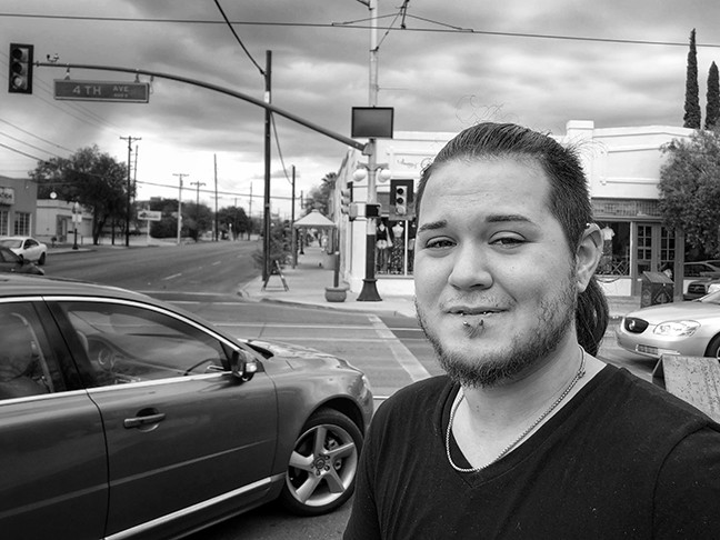 """They share an eastside apartment but mostly stay with a friend off Fourth Avenue """"because it's near IBT's. It's our home here."""" - BRIAN SMITH"""