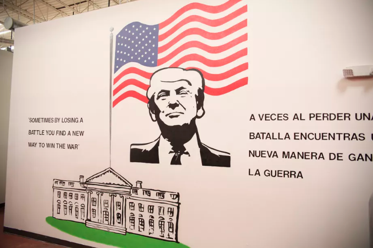 A mural on the wall inside Casa Padre, the largest government-contracted migrant youth shelter, located in Brownsville, Texas. - COURTESY OF THE ADMINISTRATION FOR CHILDREN AND FAMILIES AT THE US DEPARTMENT OF HEALTH AND HUMAN SERVICES