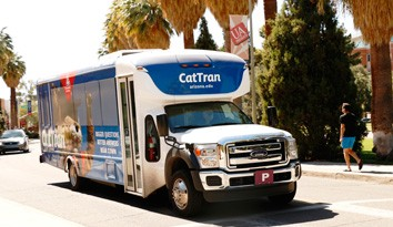 The UA Cat Tran is a great way to travel around campus.