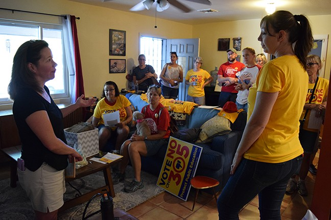 Canvassers prepare to hit the streets for No on Prop 305.