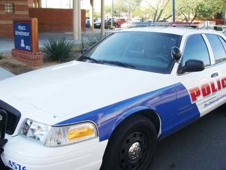 UAPD patrol cars come with everything other police cars - have—lights, sirens, officers and yes, citations.