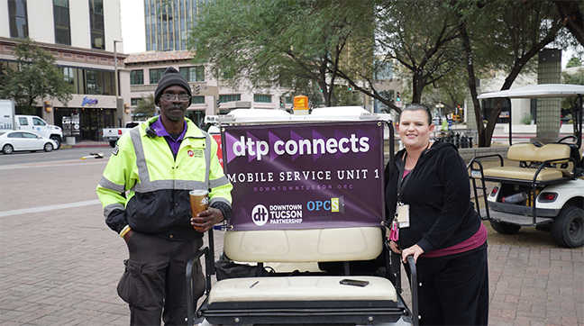 In her work with Old Pueblo Community Services, Caroline Shive worked with Downtown Tucson Partnership staffer Harold Harris and others to reach out to downtown's homeless populations