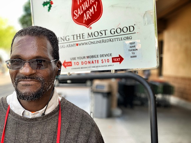 The Salvation Army gave Keith Lowery food and shelter, now he rings their bells. - BRIAN SMITH