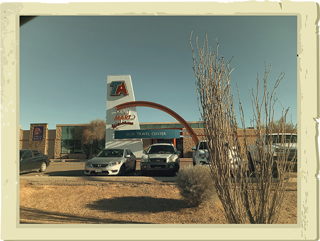 The town of Eloy offers a spot for travelers to pull over for gas, food and rest. - COURTESY