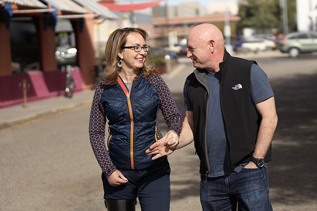 Mark Kelly and Gabby Giffords: Appointed Sen. Martha McSally's worst nightmare.