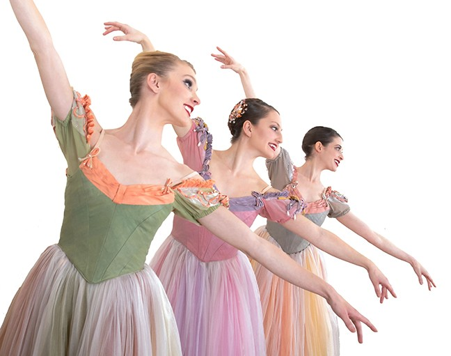 Ballet Tucson dancers (left to right) Shannon Quirk, Danielle Cesanek and Megan Steffens perform in Balanchine's Donizetti Variations