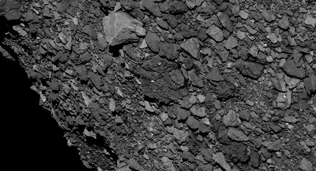 Bennu's rugged terrain is covered with larger rocks than researchers anticipated.