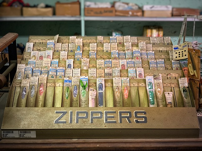 Zipper collection inside Giorsetti's in Winkelman. - BRIAN SMITH