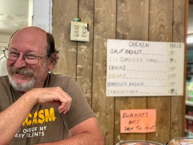 Store butcher Jeff Giorsetti. - BRIAN SMITH