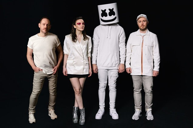 """CHVRCHES released a song called """"Here With Me,"""" in collaboration with Marshmello. Sometime after that, Marshmello decided to work with Tyga, who was accused of sexual battery by a woman who appeared in one of his videos."""