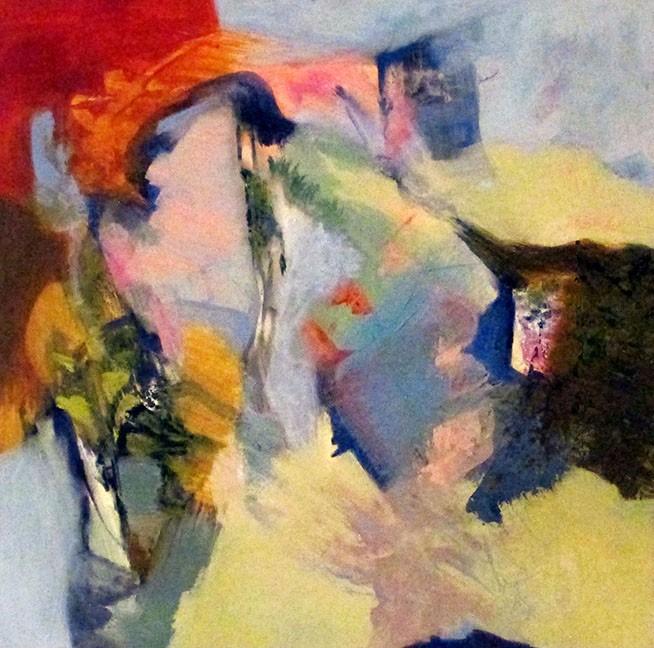 """""""Ventanilla"""" (Small Window) by Emilia Arana, oil on board."""